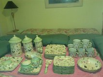"Tracy Porter ""Evelyn"" Collection Hand Painted Flowers & Berries China 8 pc Place Setting in Fort Belvoir, Virginia"