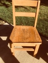 Vintage Elementary school Wooden Chair in Naperville, Illinois