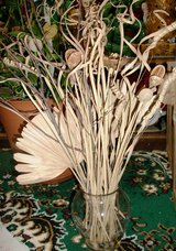 Clear Glass Vase With Wild Flowers and Bamboo Shoots in Alamogordo, New Mexico