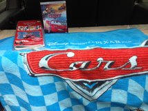 Cars Disney Set 2 - Blanket, DVD Movie & Self Stick Room Appliques in Ramstein, Germany