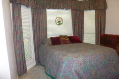 Beautiful Bedroom Set of Linens: Queen Comforter, Drapes, Valances, Rods, Pillow Shams in Rosenberg, Texas