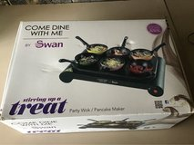 come dine with me party wok and pancake maker, new in Lakenheath, UK