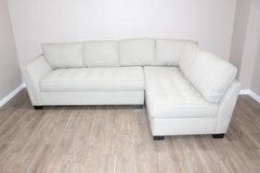 Cream Tufted Sectional Now Available! Perfect for small Living-rooms! in Spring, Texas