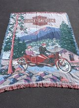 HARLEY DAVIDSON MOTOR CYCLE  RUG,THROW / WALL  HANGING ? in Wheaton, Illinois