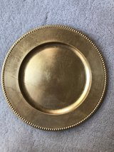 Beaded Charger Plates Gold in Chicago, Illinois