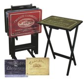 Wine Label TV Tray Set in Batavia, Illinois