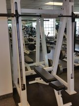 smith machine gym grade with bench and weights in Temecula, California
