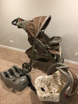 Stroller with car seat in Glendale Heights, Illinois