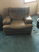 Italian Leather Chair in Glendale Heights, Illinois