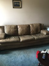 Italian Leather Couch in Glendale Heights, Illinois