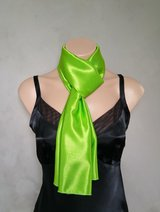 Green Scarf, Green Scarves, Lime Green Scarf, Reversible Scarf, Skinny Scarf, Daphne Scarf, Gree... in Bel Air, Maryland