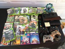 Xbox 360 w/kinect, 4 controllers and 26 games in New Lenox, Illinois