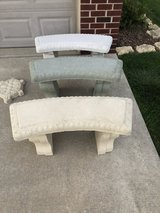 Concrete Benches in Yorkville, Illinois