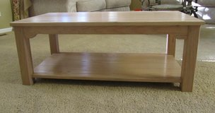 Solid, Oak Coffee Table in St. Charles, Illinois