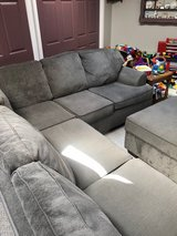 pit couch with otttoman with storage in Plainfield, Illinois