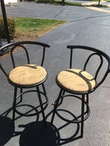 Set of 2 vintage retro French postale bar kitchen stools chairs in Glendale Heights, Illinois