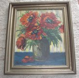 oil painting with picture frame nice flower still life antique in Stuttgart, GE