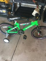 Bike with training wheels in Bolingbrook, Illinois