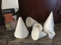 Cone cups in Oswego, Illinois