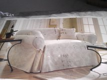 Ivory Sofa Slipcover in Fort Belvoir, Virginia