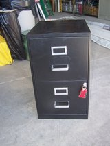 Black Metal 2 Drawer File Cabinet in Alamogordo, New Mexico