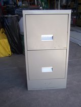 Tan 2 Drawer File Cabinet in Alamogordo, New Mexico
