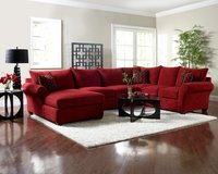Klaussner Fletcher sectional with matching ottoman in Tacoma, Washington