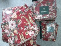 New Ralph Lauren King Comforter Set Marseilles Floral Red in Fort Belvoir, Virginia