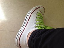 White Converse Good Condition in Okinawa, Japan
