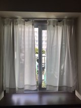 Japanese style white curtains in Okinawa, Japan