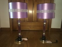 Girls Purple bedroom table lamps (2) in Bolingbrook, Illinois