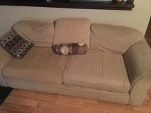 Older couch still works well. General wear and tear in Beaufort, South Carolina