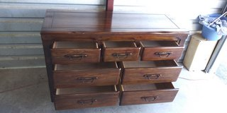 Solid wood 7 drawers dresser in good condition in El Paso, Texas