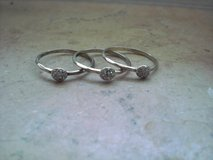 "Stella&Dot ""ANN Stacked Rings -Set of 3-925 Silver , Size 10 in Ramstein, Germany"