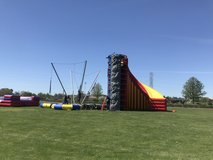 Mobile Spider Mountain Rock Wall Bungee Trampoline in Vacaville, California