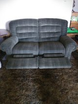 Dark Green Double RECLINING COUCH in Travis AFB, California