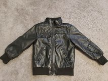 Boys size 6 Black Leather Jacket in Fort Campbell, Kentucky