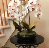 Fake orchid decor in Shorewood, Illinois