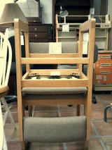 Wood chair with cloth seat and back in Alamogordo, New Mexico