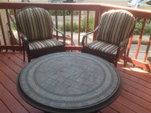 Outdoor chairs/pads and cocktail table in St. Charles, Illinois