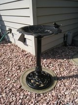 Vintage Cast Iron Standing Bird Bath Pedestal For Patio Yard Outdoor Decoration in Westmont, Illinois