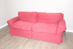 Red IKEA Couch great condition! removable cover! in Houston, Texas