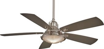 "Minka-Aire Groton 56"" Ceiling Fan with Light & Remote Control, Polished Nickel in Bolingbrook, Illinois"
