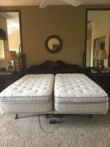 SPLIT CAL-KING SLEEP NUMBER 360® iLE BED WITH FLEXFIT 2 ADJUSTABLE FRAME & VIBRATER in Travis AFB, California