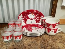 Snowman Dish Set in Warner Robins, Georgia
