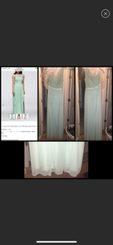 David's Bridal mint green size 4 bridesmaid dress! in Fort Campbell, Kentucky