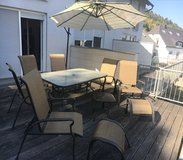 9 Piece Patio Furniture + Grill in Ramstein, Germany