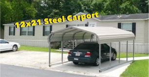 12x21 Steel Carport. Rent to Own No Credit Check in DeRidder, Louisiana
