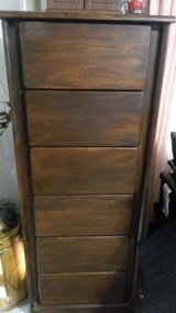 6 drawer tall  wood  cabinet in Fort Leavenworth, Kansas