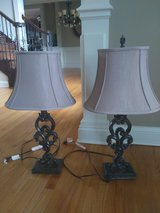 2 Lamps- Beige in Elgin, Illinois